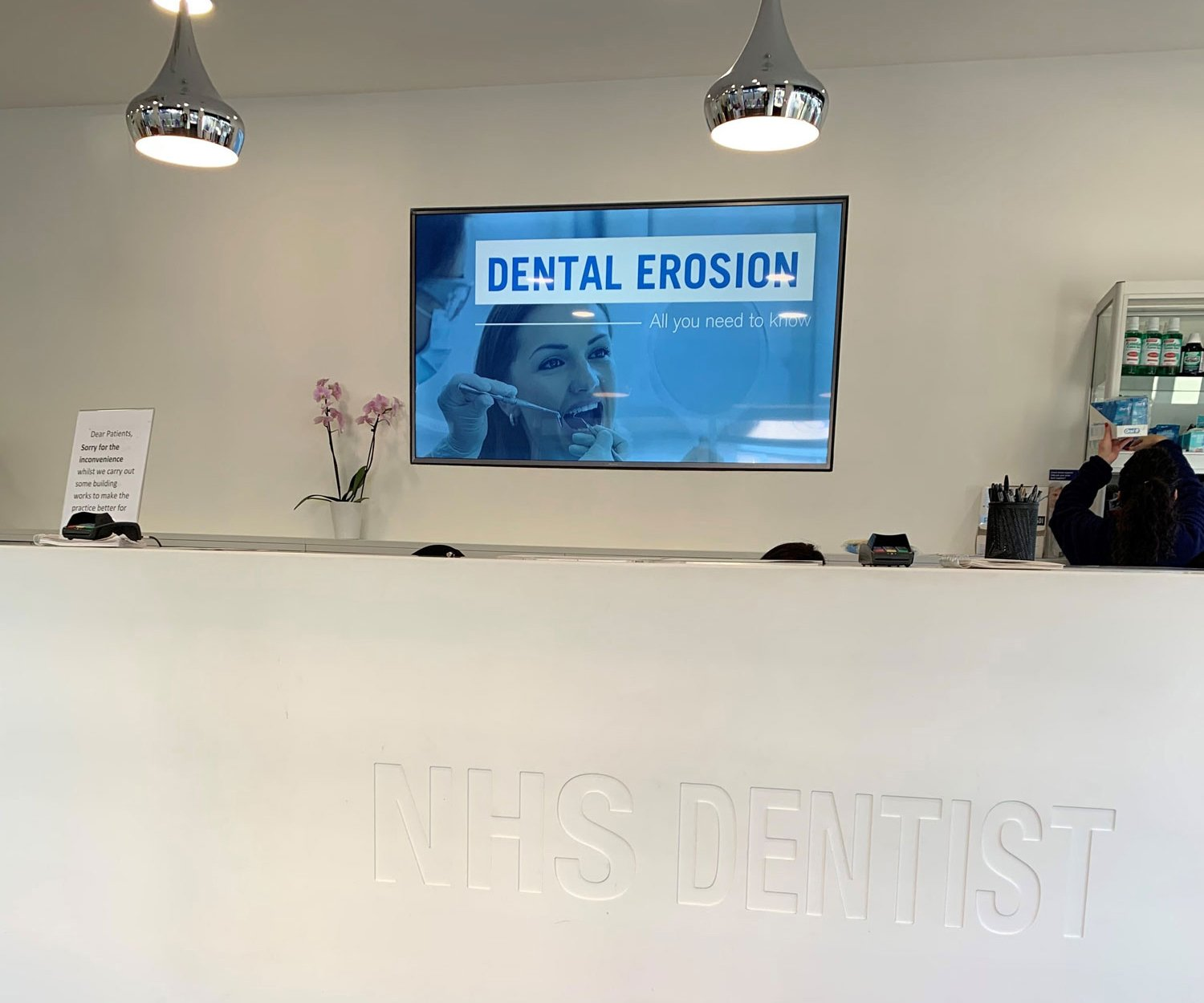 NHS Dentist choose Envisage Dental TV