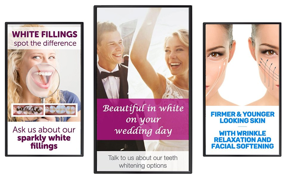 Using portrait screens to promote your dental practice